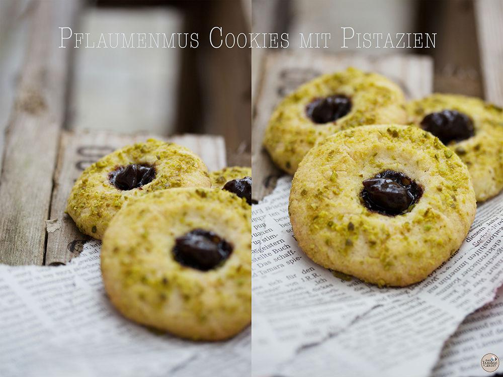Pflaumenmus-Cookies mit Pistazien