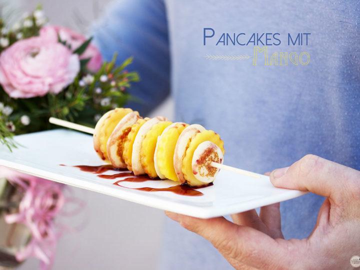 Mini-Pancakes mit Mango