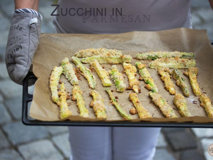 Zucchini in Parmesan…mmmhhhh…