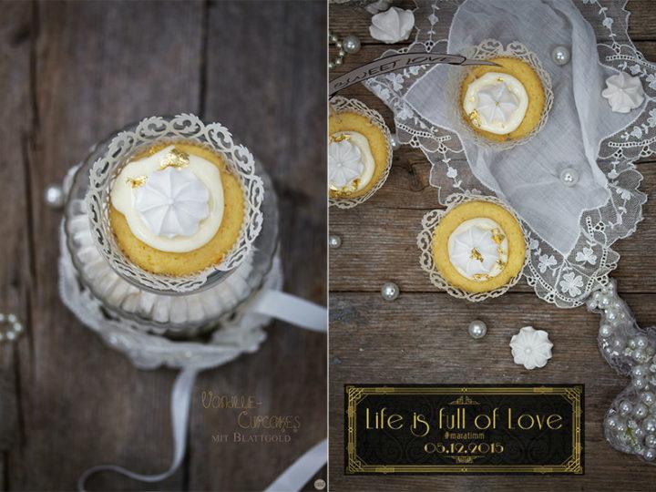 Vanille-Cupcakes mit Blattgold für lifeisfullofLOVE/ #maratimm