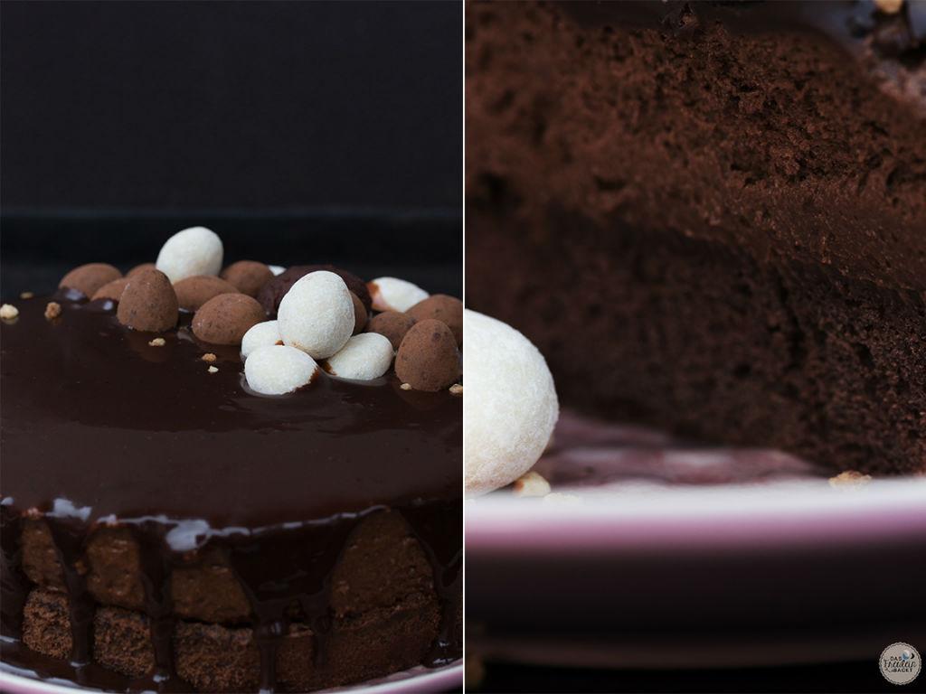 Schokoladen-Mousse-Kuchen