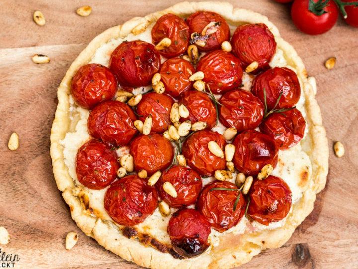 Eine Tomaten-Galette! Ziemlich yummy!