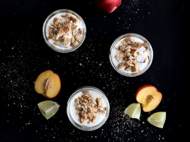Bäm, ein Nektarinen-Limetten-Dessert! *Werbung