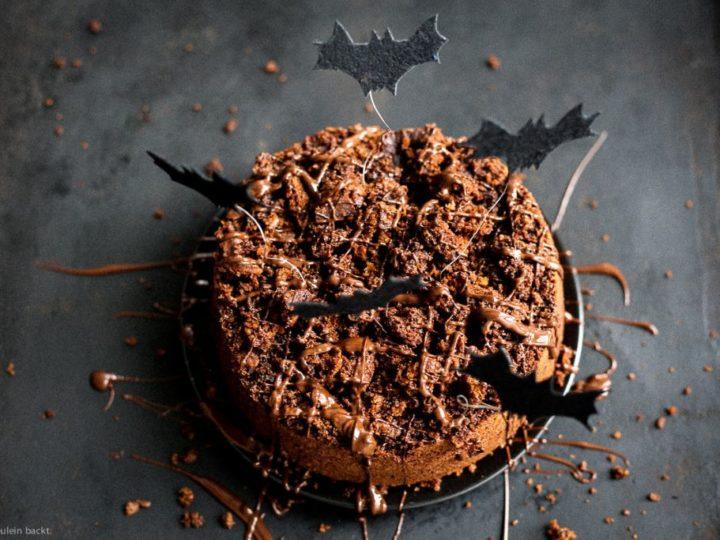 Ein Schokoladenkuchen für Halloween