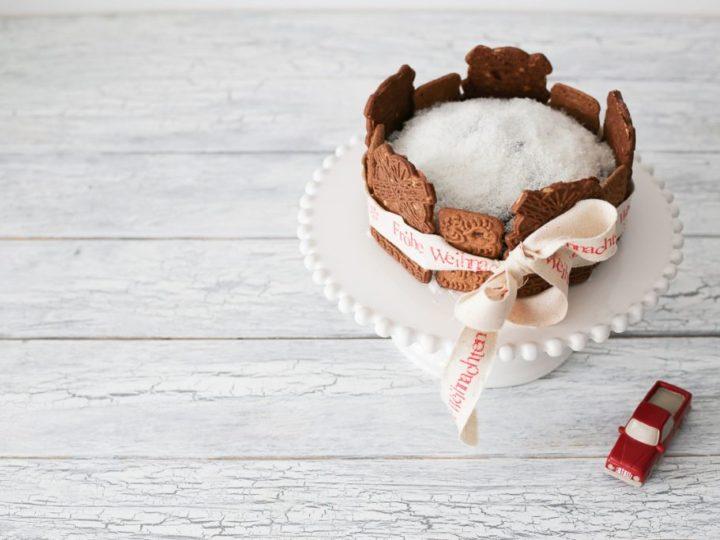 Ein kleiner Schoko-Kokos-Kuchen mit Spekulatius