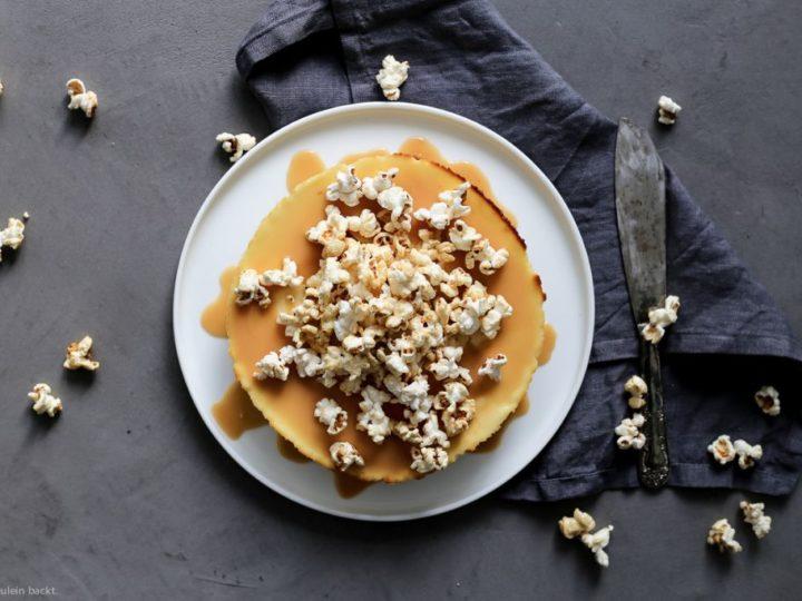 New York Cheesecake mit Popcorn