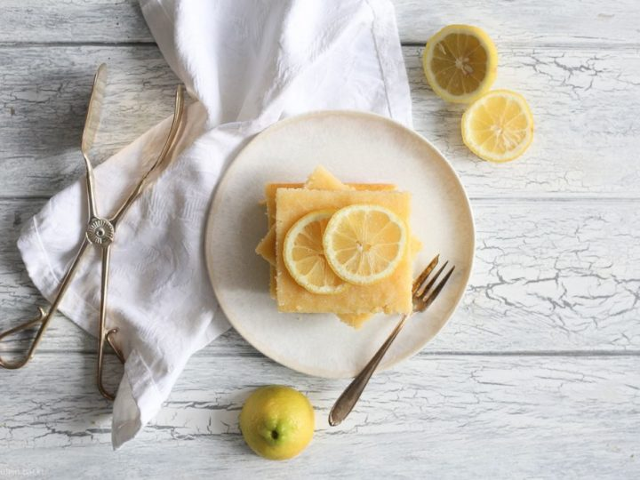 Ein ganzes Blech voller Zitronenkuchen!
