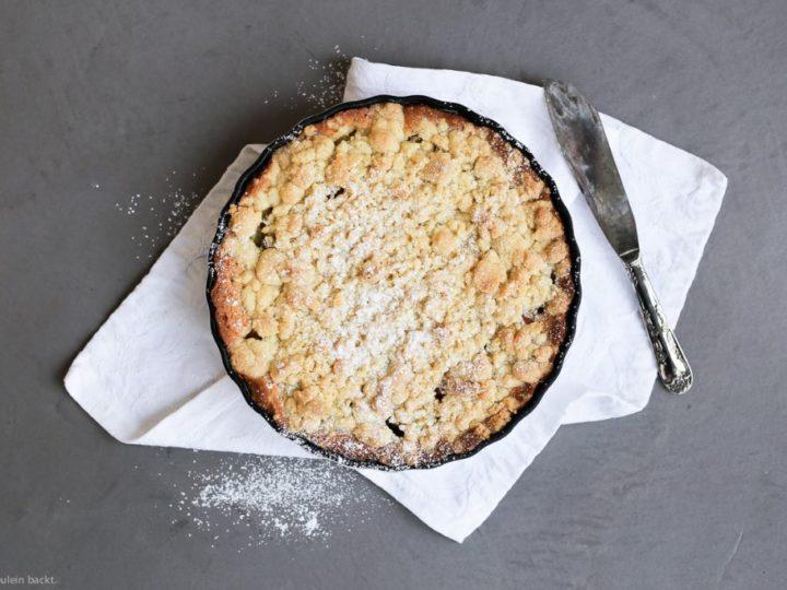 Liebst du Rhabarber-Streuselkuchen?