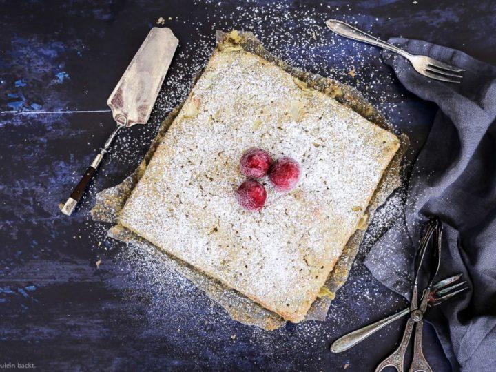 Schneller und einfacher Rhabarberkuchen